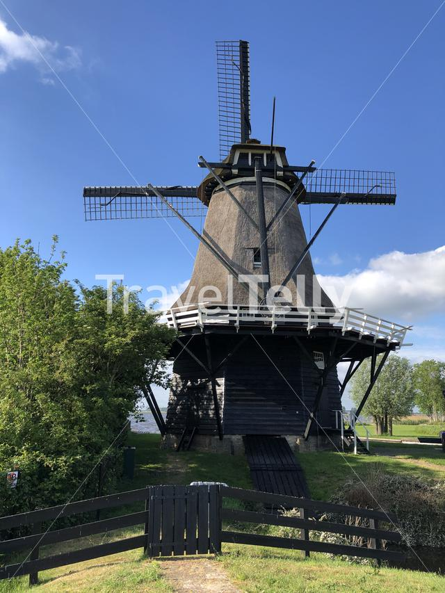Langweerder windmill in Friesland The Netherlands
