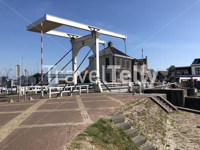 Bridge in the harbor of Stavoren, Friesland The Netherlands
