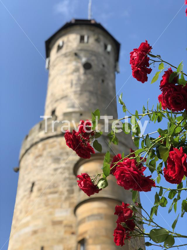 Tower from the Altenburg Castle in Bamberg Germany