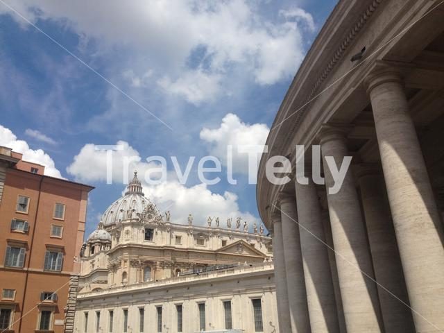 St. Peter's Basilica, is a Late Renaissance church located within Vatican City.