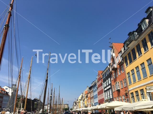 Nyhavn (New Harbour) a 17th-century waterfront, canal and entertainment district in Copenhagen, Denmark