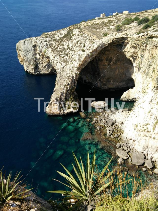 Blue Grotto Malta from above