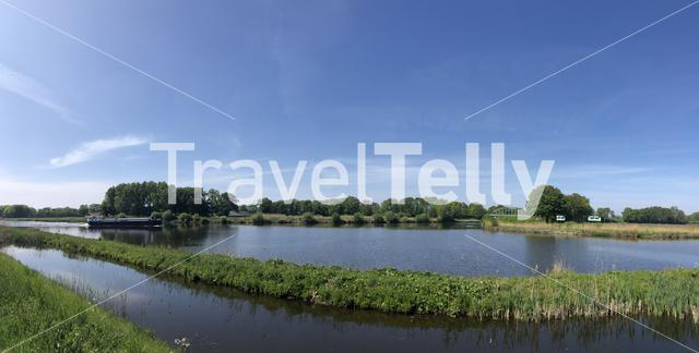 Panorama from the Twente canal around Wiene in The Netherlands