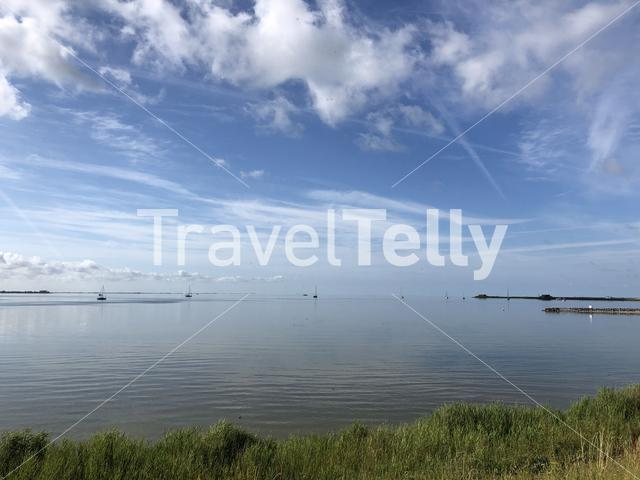 The IJsselmeer in Friesland The Netherlands