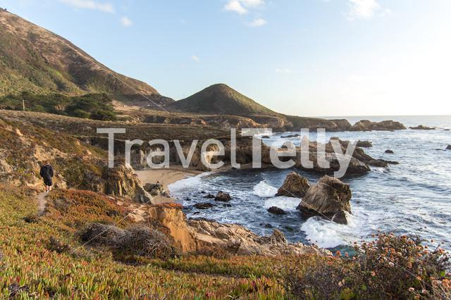 Beautiful scenery at the Big Sur USA during a road trip.