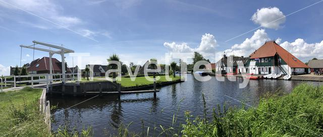 Panorama from Goingarijp in Friesland, The Netherlands