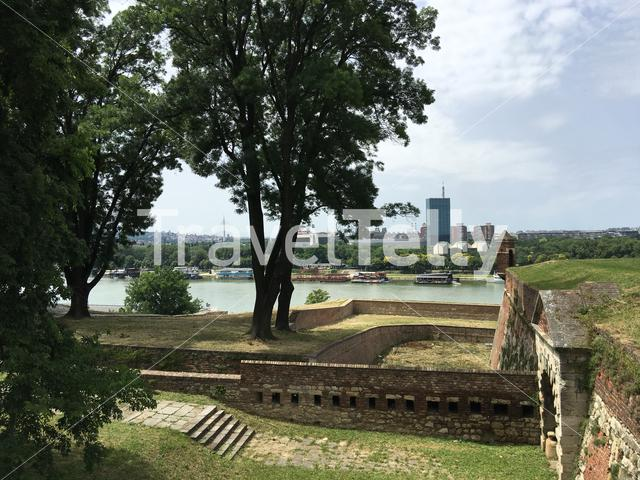 View from the Kalemegdan Fortress in Belgrade Serbia