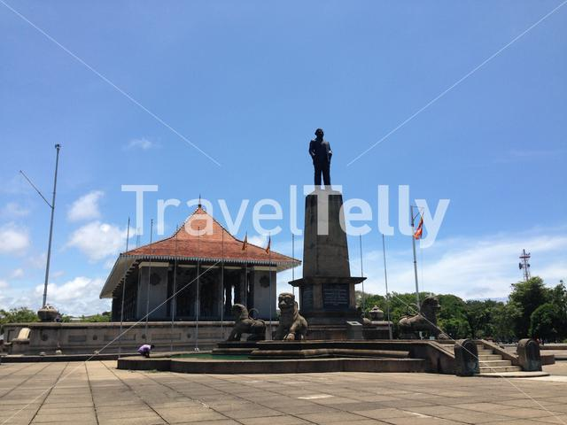 Independence Memorial Hall is a national monument at the Independence Square in Colombo Sri Lanka