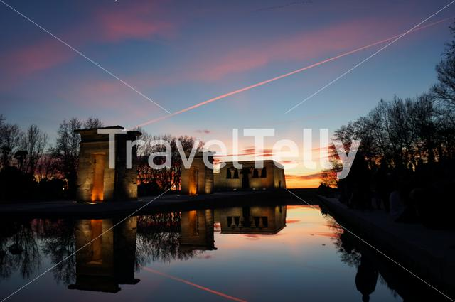 Temple of Debod is a perfect spot for the sunset time in Madrid. It's open and free to visitors for the whole year.