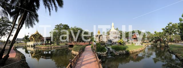 Panorama from The Ramayana Garden at the Ancient Siam, Thailand
