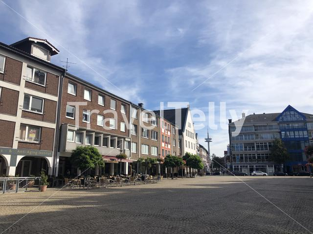 The big market square in Wesel, Germany