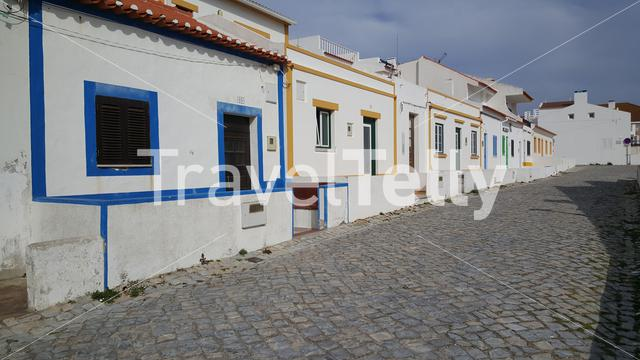 Architecture in the street of Casais do Baleal Portugal