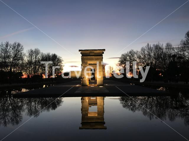 Temple of Debod is a perfect spot for the sunset time in Madrid. It's open and free to visitors the whole year.