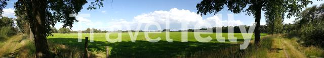 Panorama from Farmland in Nijverdal The Netherlands