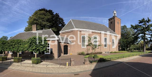 Panoramic from the Church in Halle, Gelderland, The Netherlands
