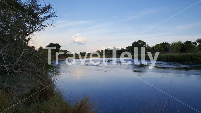 The Okavango River around the Popa Game Park in Divundu, Namibia