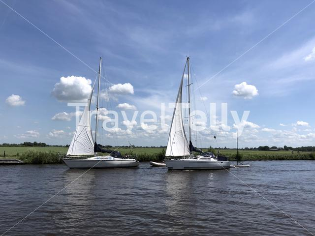 Sailing in Friesland The Netherlands
