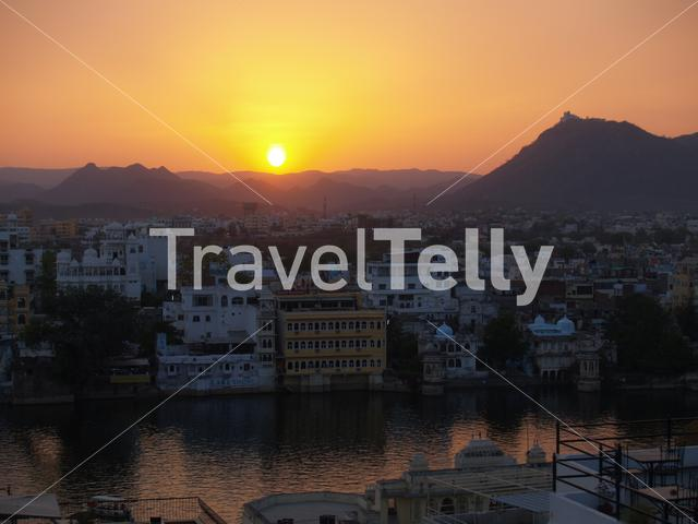 Sunset in Udaipur India