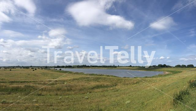 Panorama from a landscape around Groessen in The Netherlands
