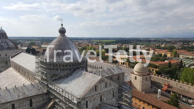 Pisa Cathedral from the Leaning Tower of Pisa