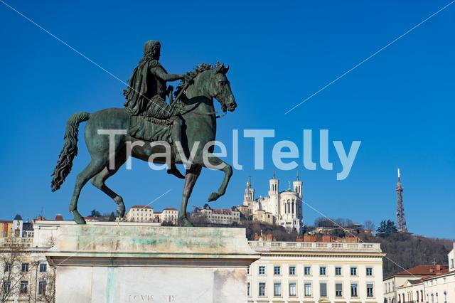 Place Bellecour in Lyon, France