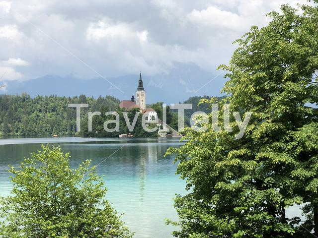 Pilgrimage Church of the Assumption of Maria on Bled island in Bled Slovenia
