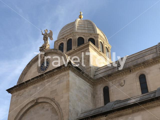 Close up from the Cathedral of St. James in Sibenik, Croatia