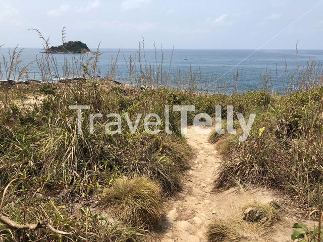 Path towards koh samet end view point in Thailand