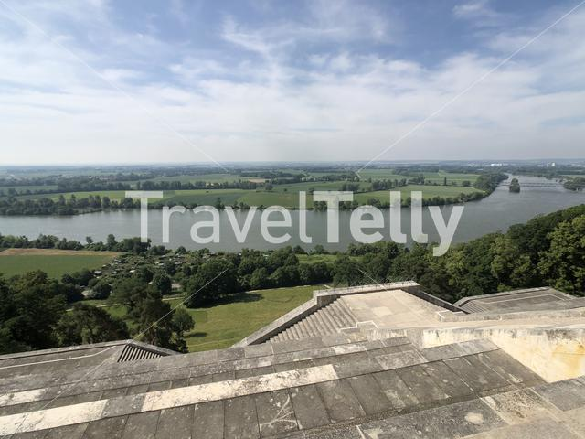 View from the Walhalla in Donaustauf, Germany