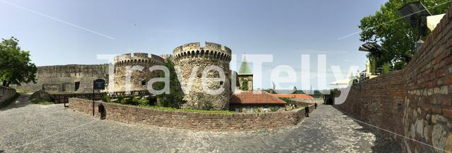 Panorama from the Ružica church at the Kalemegdan Fortress in Belgrade Serbia