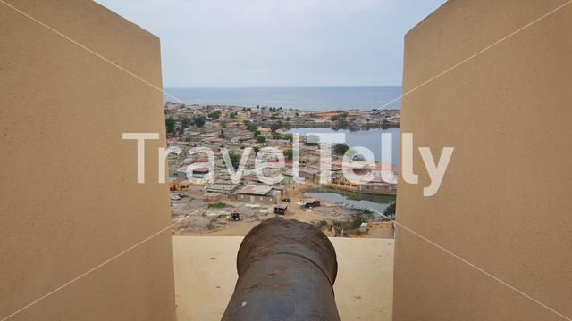 Cannon at Fortress of São Miguel in Luanda, Angola