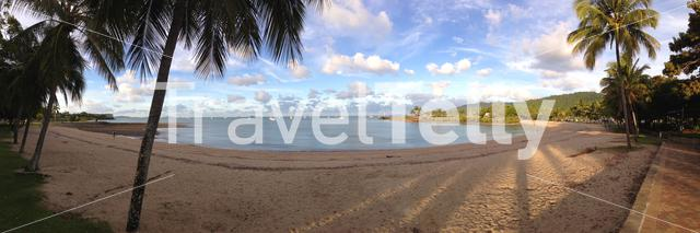Panorama of Airlie Beach which is a locality in the Whitsunday Region of Queensland, Australia