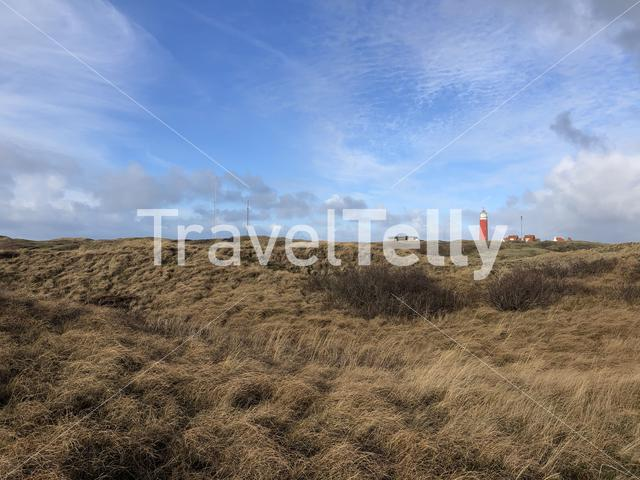 Texel scenery with the lighthouse in The Netherlands