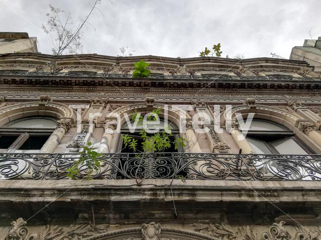 Abandoned building downtown in Mexico city
