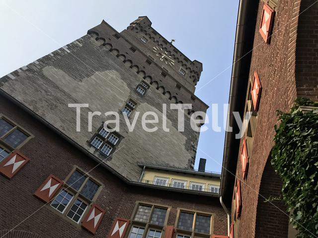 The swan tower of the Schwanenburg Castle in Kleve Germany