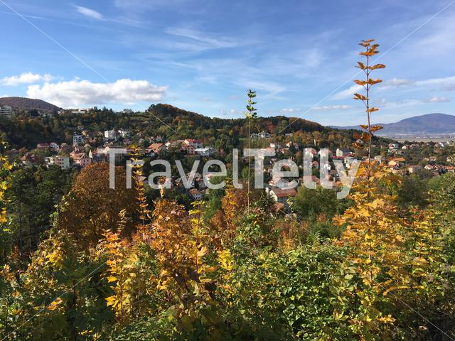 Brasov seen from Tampa mountain in Romania