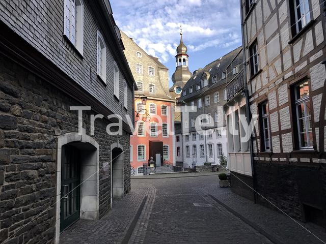 In the streets of Monschau Germany