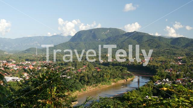 View of Luang Prabang from Mount Phousi hill