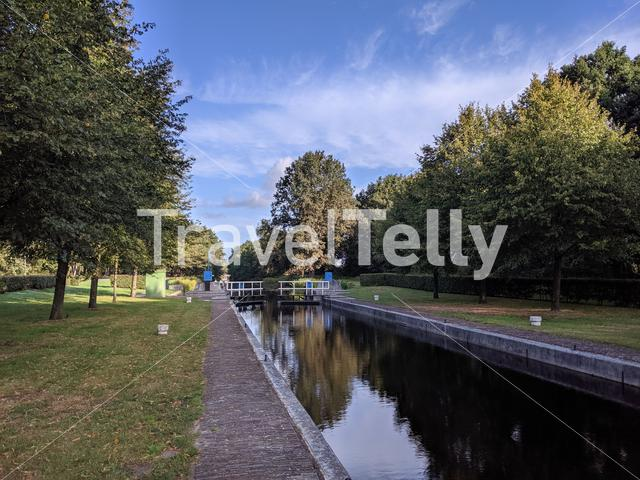 Canal lock around Hoogehaar, Drenthe The Netherlands