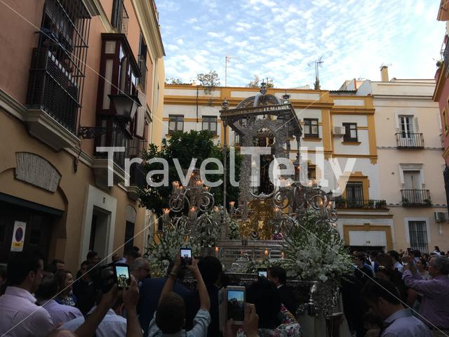 Catholic parade in Seville Spain