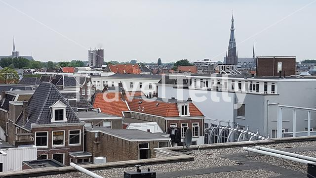 View over Leeuwarden from above