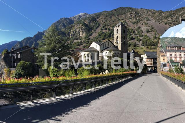 Panorama from the Church of Saint Stephen in Andorra la Vella