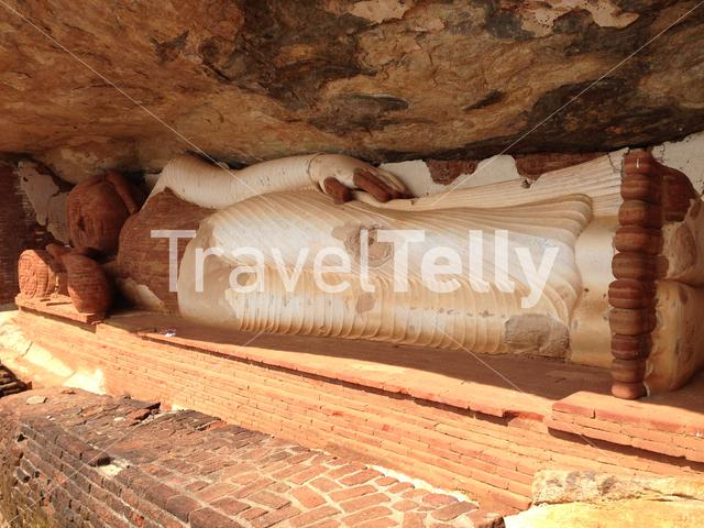 Pidurangala Ancient Forest Monastery with the sleeping buddha statue