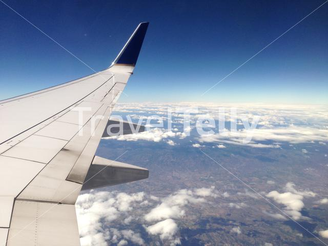 Flying above the United States of Ameria