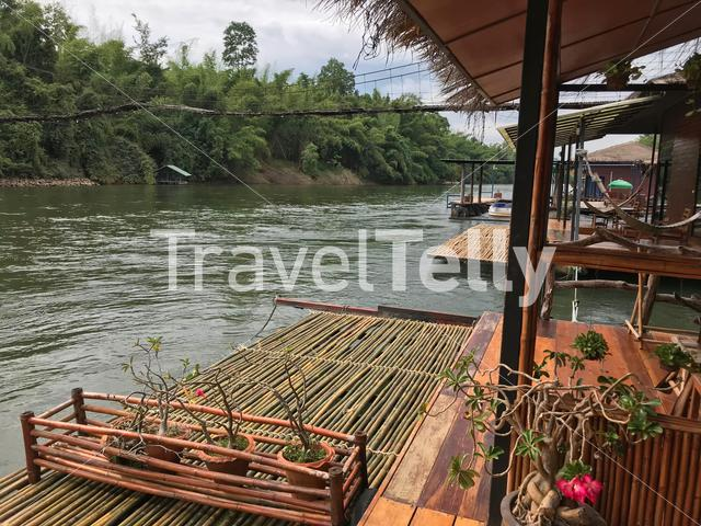 Raft Resort on the River Kwai in Thailand