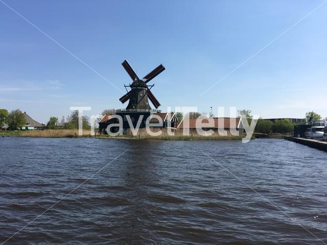 Old windmill in Ijlst Friesland The Netherlands
