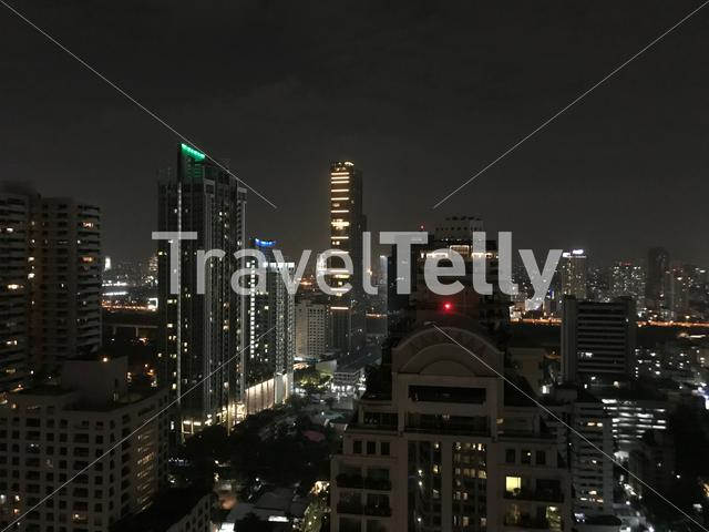 Bangkok city view from a rooftop in Thailand