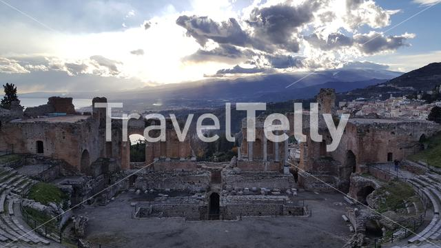 The Ancient theatre of Taormina in Italy