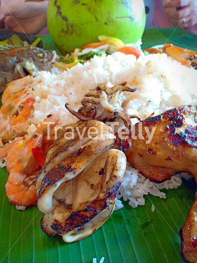 Boodle fight! filipinow's all about this kind of food. Good for family and friends bonding.