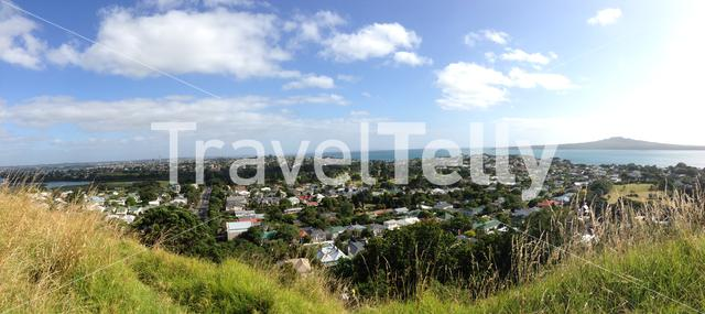 Panorama from Mount Victoria in Auckland New Zealand